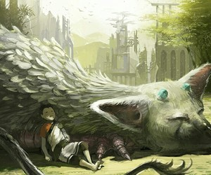 trico, ps4, and the last guardian image