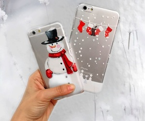 christmas, case, and snowman image