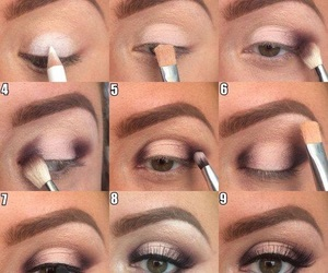 eyes, tutorial, and makeup image