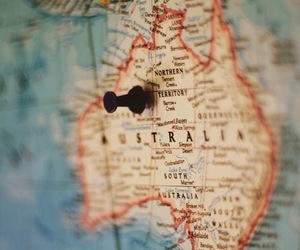 australia, travel, and map image
