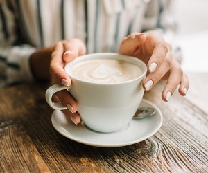 coffee, drink, and hands image