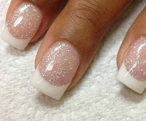 nails, french manicure, and nail polish image