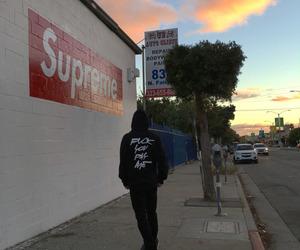 supreme, skate, and boy image