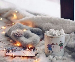 winter, lights, and marshmallow image