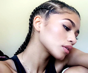 beauty, hair, and zendaya image