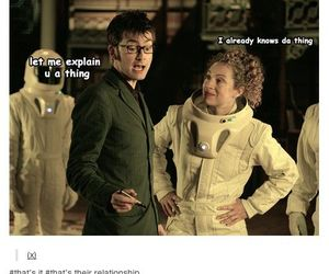 doctor who, river song, and tenth doctor image