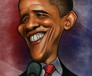 funny pictures, funny images, and obama caricature image