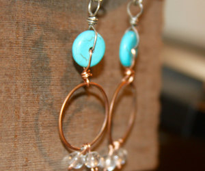 chandelier earring, etsy, and boho style image