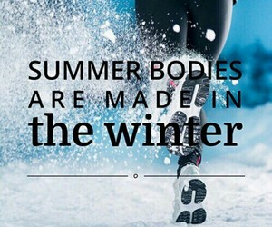 winter, fit, and fitness image