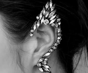 black & white, bling, and fashion image