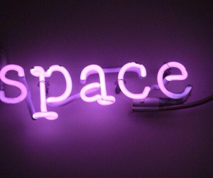space, neon, and purple image