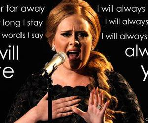 Adele, famous, and letters image