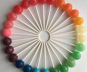 colors, lollipop, and rainbow image