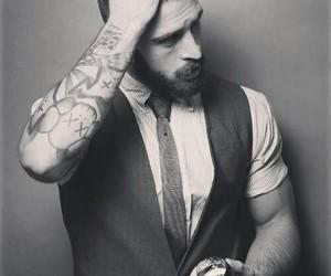 tattoo, man, and beard image