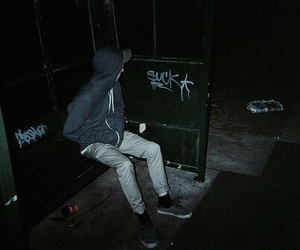boy, dark, and grunge image