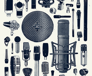 art, microphones, and music image
