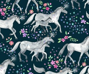 pattern, unicorn, and wallpaper image