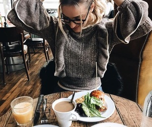 chic, fashion, and sweater image