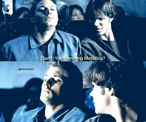 dean, funny, and metallica image