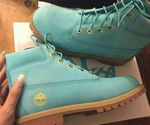 timberland, blue, and boots image