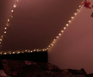 bed, lights, and berlin image