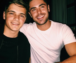 martin garrix, zac efron, and boy image