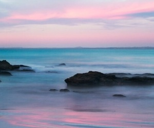 sea, pink, and blue image