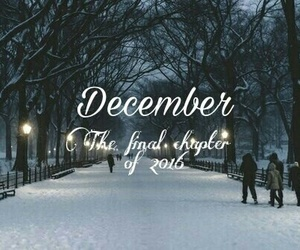 december, quote, and snow image