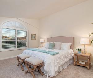 bedroom, california, and decor image