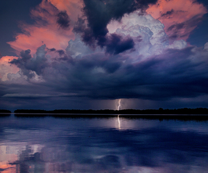 clouds, lightning, and scenery image