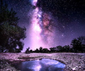 nature, stars, and beauty image