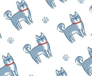 background, blue, and dog image