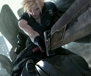 cloud strife, final fantasy, and game image