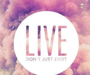live, pink, and quote image