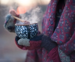 winter, cold, and tea image