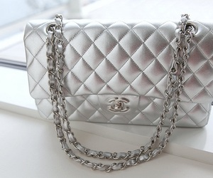 bag, chanel, and silver image
