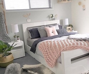 bedroom, grey, and room image