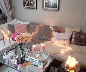 chic, christmas lights, and decor image