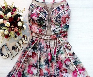 clothes, colors, and flowers image