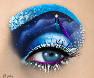 frozen, eye, and makeup image