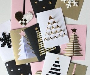 christmas, cards, and tree image