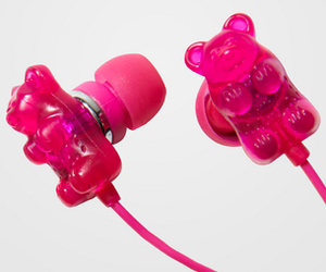 pink, bear, and gummy image