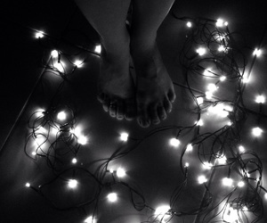 black and white, lights, and photography image