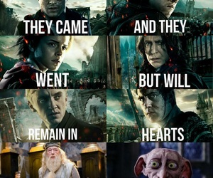 albus dumbledore, hermione granger, and neville longbottom image