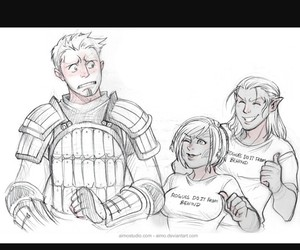 dragon age, zevran, and alistair image