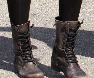 boots, combat boots, and fashion image