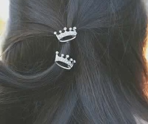 hair, crown, and coroa image