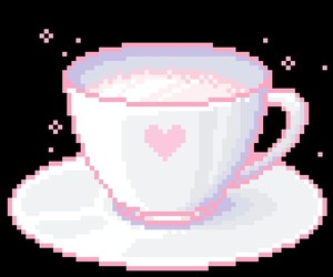 kawaii, pink, and pixel image