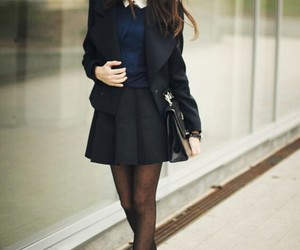 outfit, black, and skirt image