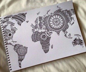 drawing, world, and art image